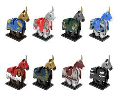 Big size 1Pc Horse Building <b>Blocks Wild Animal</b> Figure Set Military ...
