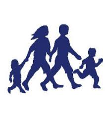 Picture of a small silhouette of a family
