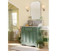 mid century pottery barn bathroom vanity interior design with painted blue sink cabinet vanity and frameless awesome pottery barn bathroom vanity decor
