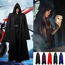 Vampire <b>Cloak</b> Witch <b>Cape</b> Robe Hooded Gothic Halloween ...