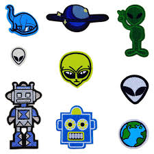 Hot Selling Kids Alien Planet <b>Robot Dinosaur</b> Patches <b>Iron</b> On Or ...