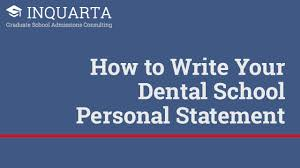 how to write your dental school personal statement inquarta