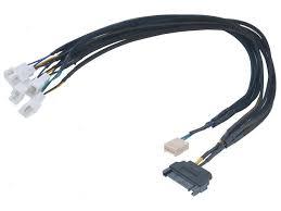 <b>Кабель</b>-<b>разветвитель Akasa Flexa</b> FP3S Smart PWM Black ...