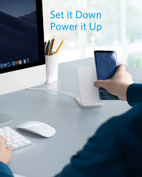 Anker <b>Wireless Charger</b>, PowerWave Stand, <b>Qi</b>-Certified for iPhone 11
