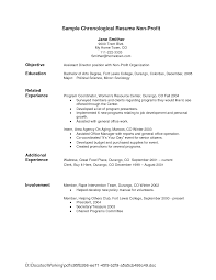 resume template template chronological resume sample summary chronological