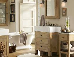 awesome pottery barn bathrooms decoration ideas with natural wooden vanity cabinet with white top and chic awesome pottery barn bathroom vanity decor