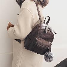 Stone Pattern PU Leather <b>Backpacks</b> for <b>Women 2019 Fashion</b> Girls ...