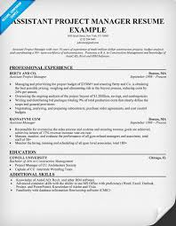 project manager resume resume examples software project manager  assistant project manager resume sample project manager resume