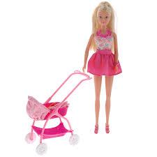 <b>Simba Кукла Штеффи</b> с ребенком цвет розовый белый — купить ...