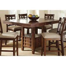 dining room pub style sets: this versatile dining set makes a great looking addition to your home the table comfortably seats six with the self storing leaf in use or four with it