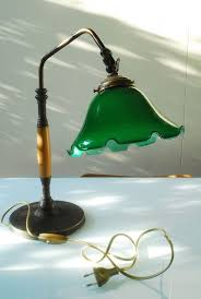 victorian style vintage bankers lamp desk lamp home office glass shade home office early