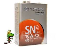 <b>Масло моторное Toyota Motor OIL</b> SN 10W-30 (4л) 08880-10805 ...