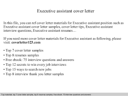 executive assistant cover letter in this file you can ref cover letter materials for executive executive assistant cover letter