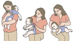 como hacer eructar al bebé