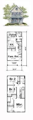 Country House Plan   Narrow Lot House Plans  Cathedral    Narrow Lot House Plan   Total Living Area  sq  ft