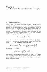 the minimum distance estimate examples springer combinatorial methods in density estimation combinatorial methods in density estimation