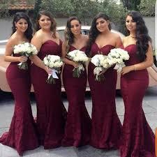 sexy lace burgundy bridesmaid dresses 2019 mermaid long sleeve beaded dress formal maid of honor