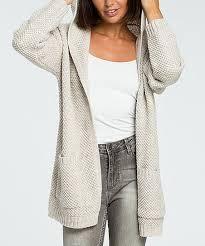 <b>BeWear</b> Beige Open-Front Hooded Knit <b>Cardigan</b> - Women | zulily ...