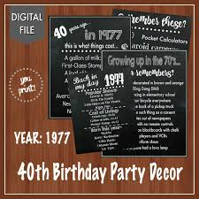 wood sign glass decor wooden kitchen wall: on sale th birthday party signs  th birthday decor fun facts about the s back in the s digital th birthday