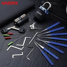 <b>NAIERDI Locksmith</b> Hand Tools Supplies <b>Lock</b> Pick Set Transparent ...