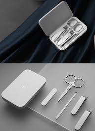 <b>Xiaomi Mijia</b> manicure set with | <b>Stainless</b> steel nails, Nail clippers ...