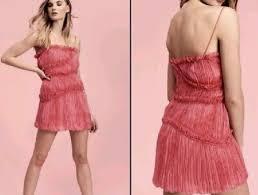 Free People Mini Dress Silk <b>Chiffon Pleated Ruched Ruffle</b> Trim ...