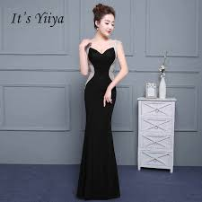 It's Yiiya <b>Sex</b> Black Backless Satin V neck Zipper Elegant <b>Evening</b> ...