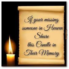 if your missing someone in heaven share this candle in their ... via Relatably.com