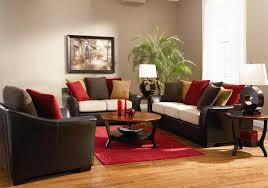 furniture comfortable small brown leather sofa dark with round light varnished shabby chic home decor astounding red leather couch furniture