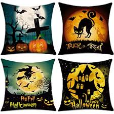 WEYON Happy Halloween Throw Pillow Covers 18 x ... - Amazon.com