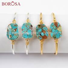<b>Fashion</b> Jewelry <b>Gold</b>-color <b>BOROSA 5PCS Gold</b>/Silver Color Wire ...