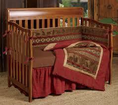 cabin decor lodge sled:  baby cascade lodge crib bedding set