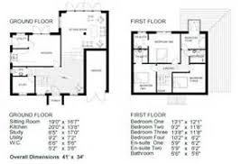 Modern Story House Floor Plan  House Floor Plans With Dimensions    Simple House Plans   Dimensions