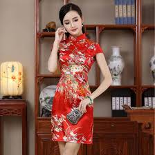 <b>chinese traditional modern qipao</b> wedding dress red dresses ...
