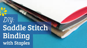 DIY Staple Saddle Stitch Bookbinding Tutorial   Sea Lemon   YouTube