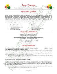preschool teacher resume sample page 1 preschool teacher cover letter