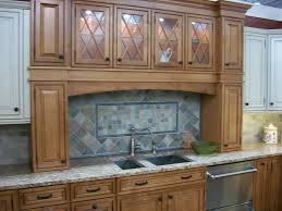white glaze galley kitchen cabinet with rectangle