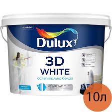 <b>DULUX</b> 3D White <b>краска в/д</b> для потолков и стен матовая (10л ...
