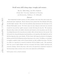 (PDF) Scroll wave <b>drift</b> along steps, troughs and <b>corners</b>