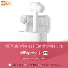 Original Xiaomi Mi True Wireless Earphones Lite TWS <b>Bluetooth</b> In ...