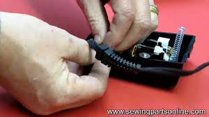 how to install a cord on a sewing machine s foot control