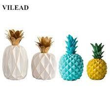 <b>VILEAD 11 Colors Ceramic</b> Resin Pineapple Figurines Enamel ...
