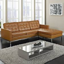 living room furniture houston design: brown leather tufted sectional sofas cheap plus rug and cool coffee table for living room decoration