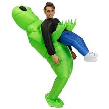 Green <b>Alien</b> Carrying Human <b>Costume</b> | <b>Inflatable costumes</b>, Fancy ...