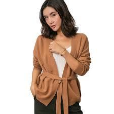 Women's <b>Cashmere</b> Casual Belt <b>Cardigan</b> Chinese Style ...
