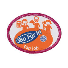 go for it top job woven badge guide gifts and fun badges go for it top job woven badge