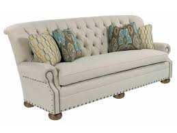 Button Couch Kincaid Furniture Spencer Traditional 96 Inch Button Tufted Sofa