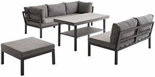 <b>Lounge</b> Set Outliv Austin Furniture Aluminium/Textile <b>4</b>-<b>Piece</b> ...