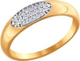 Золотое кольцо <b>SOKOLOV</b> 016591_s с фианитами — купить в ...