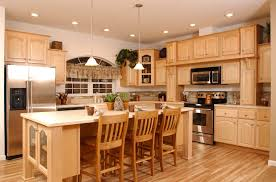 painted kitchen cabinets vintage cream: kitchen design ideas with light kitchen design ideas with light oak cabinets and cream classic islands furniture plus wooden traditional bar stools sets also white vintage ceiling lamps plans